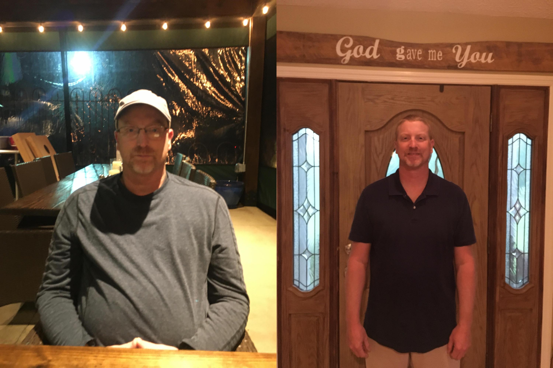 Trent L. Before & After Pics Calotren